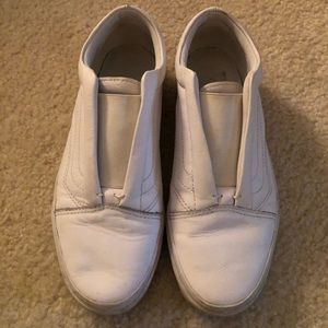VANS White Leather Shoes